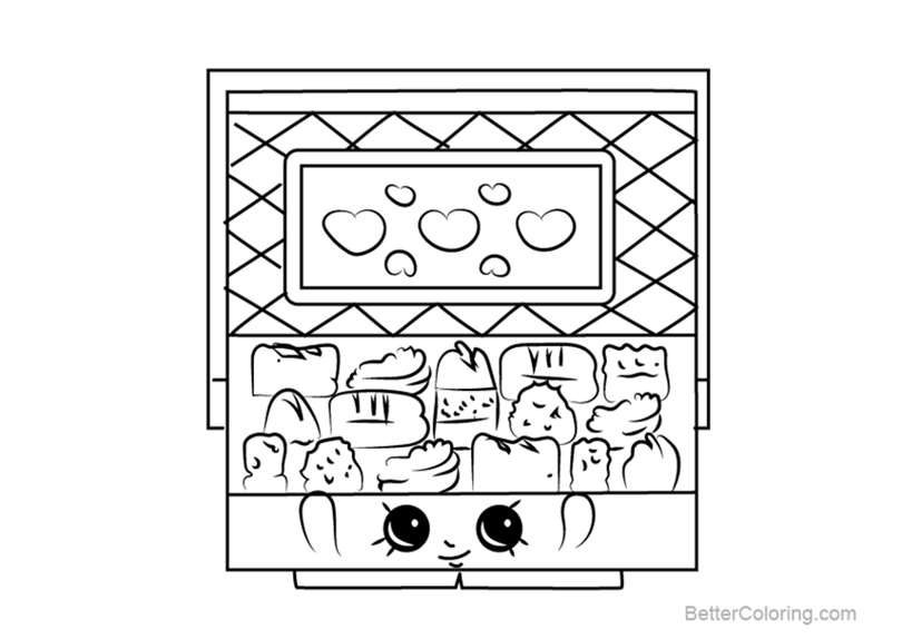 Free Chocky Box From Shopkins Coloring Pages Printable For Kids And Adults