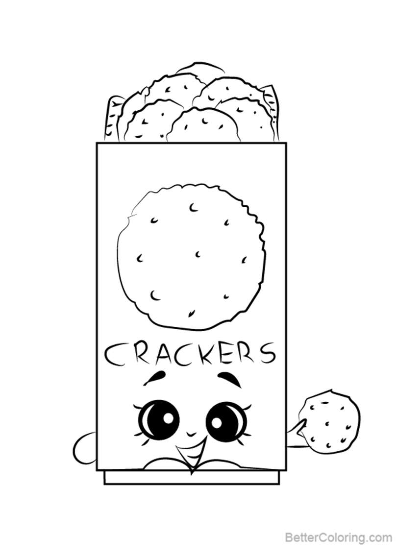 Free Chris P Crackers from Shopkins Coloring Pages printable