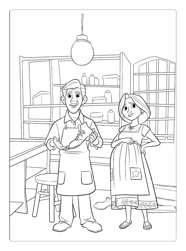 Free Coco Coloring Pages Dad and Mom printable