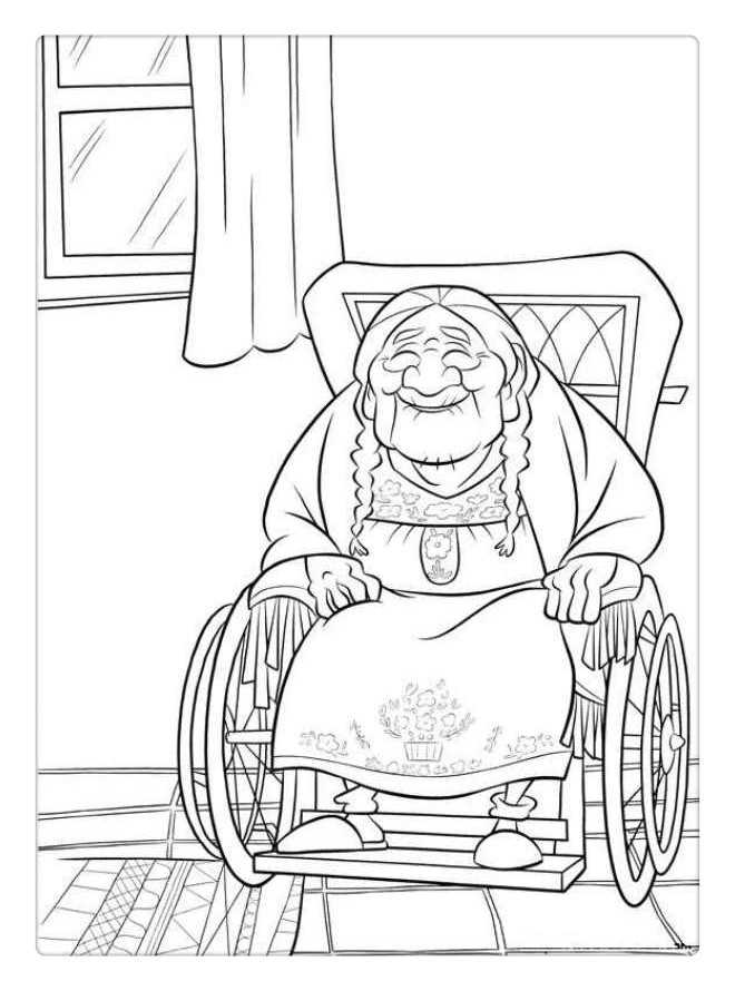 Free Coco Coloring Pages Grandma printable