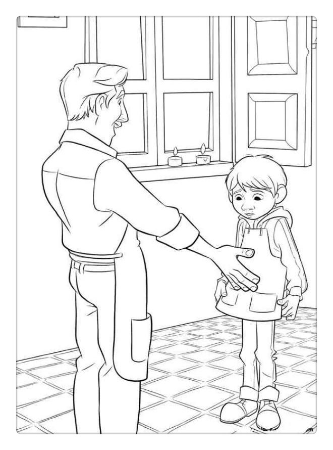 Free Coco Coloring Pages Miguel Meet Dad printable