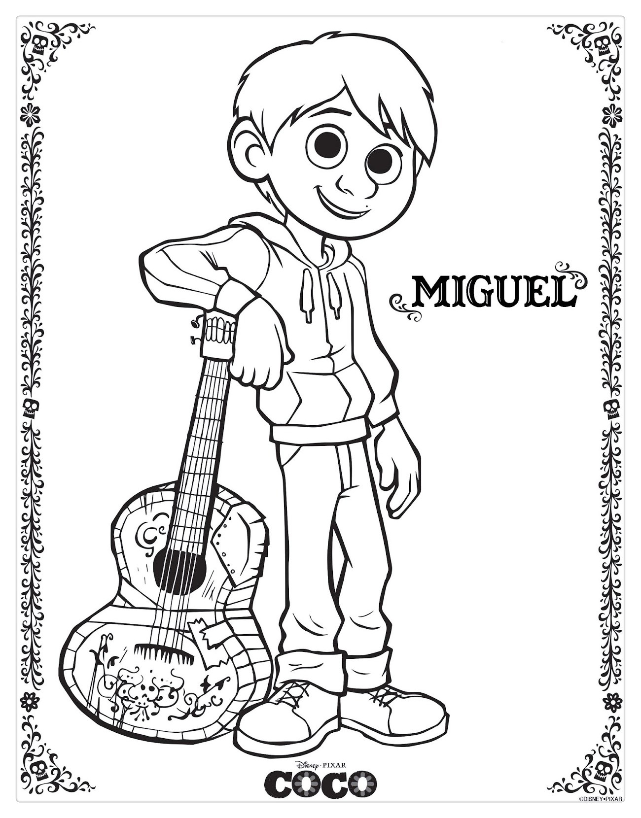 Free Coco Coloring Pages printable
