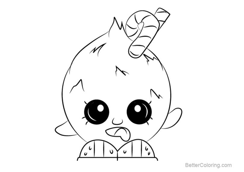 Free Coco Nutty from Shopkins Coloring Pages printable