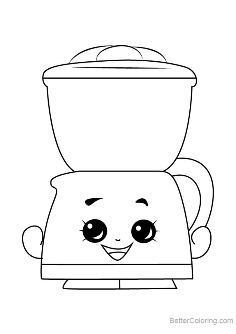 Free Coffee Drip from Shopkins Coloring Pages printable