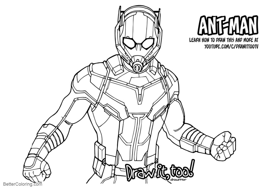 Free Coloring Pages of Ant Man printable