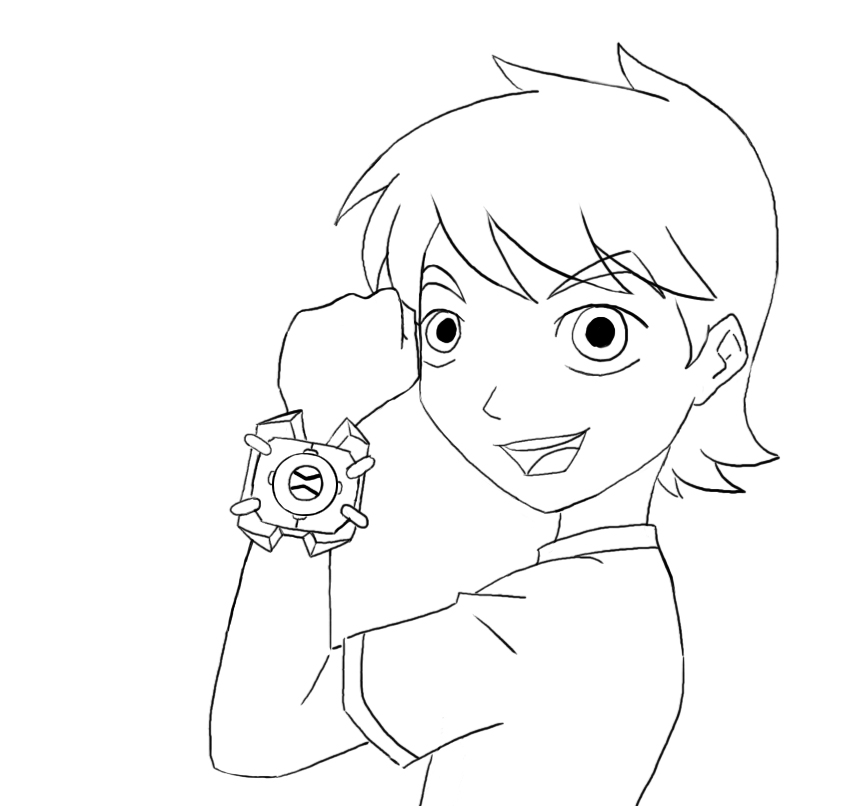 Free Coloring Pages of Ben 10 Lineart by ravennrichards printable