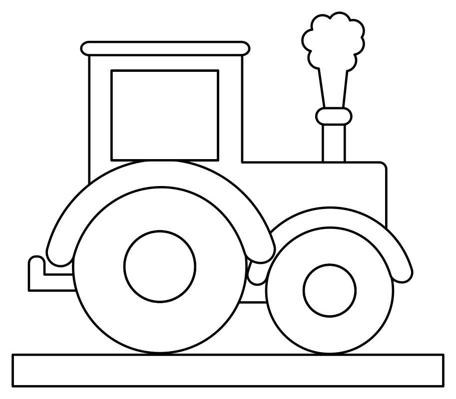Free Coloring Pages of Tractor Lineart printable