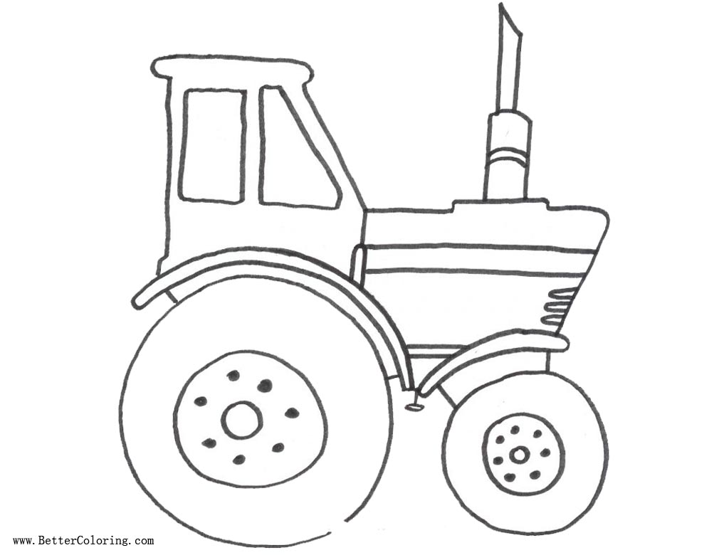 Free Coloring Pages of Tractor printable