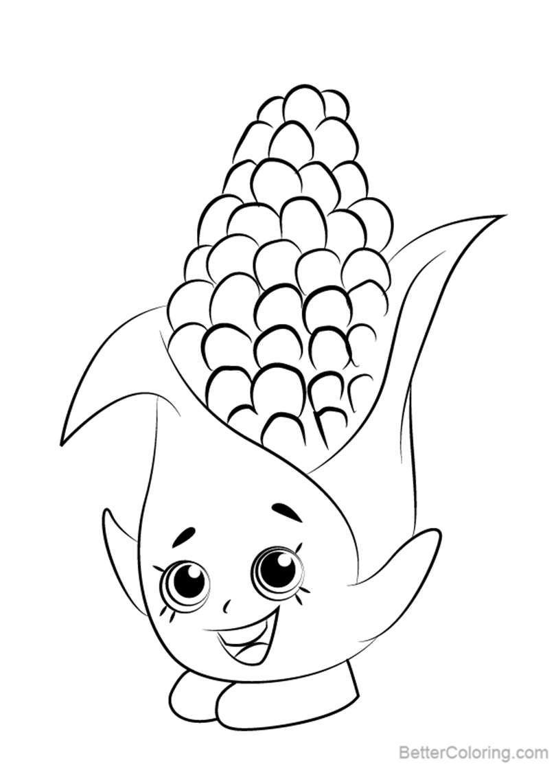 Free Corny Cob from Shopkins Coloring Pages printable