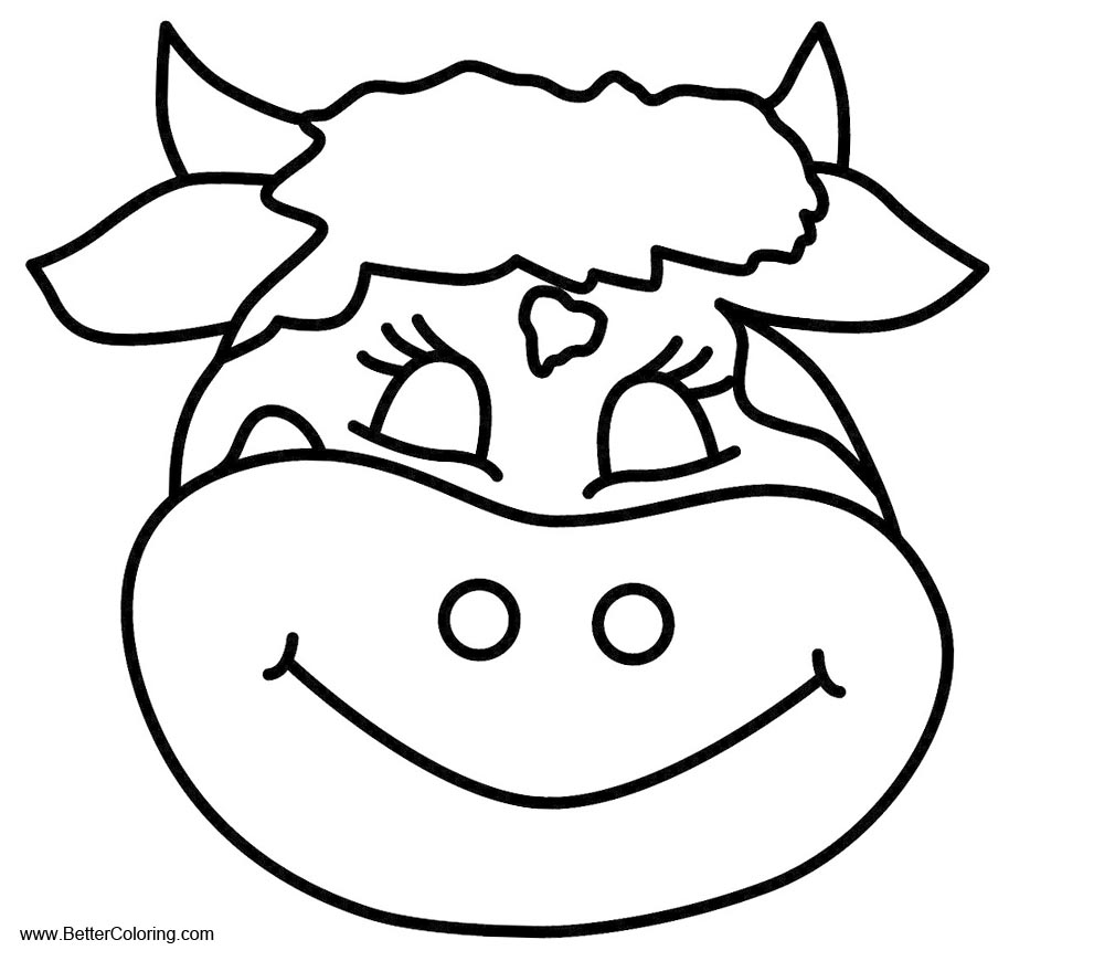 Free Cow Head Coloring Pages Printable For Kids And Adults