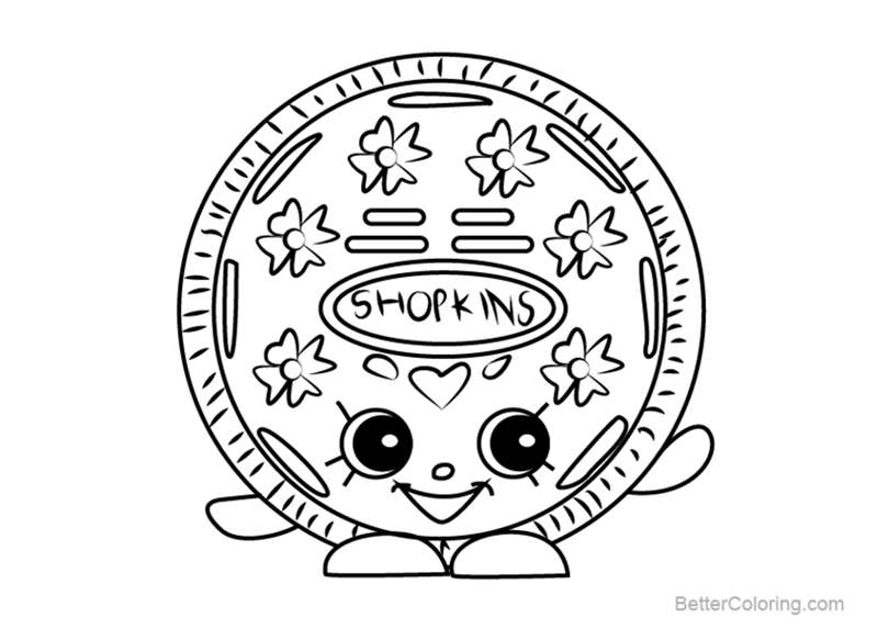 Free Cream E Cookie from Shopkins Coloring Pages printable