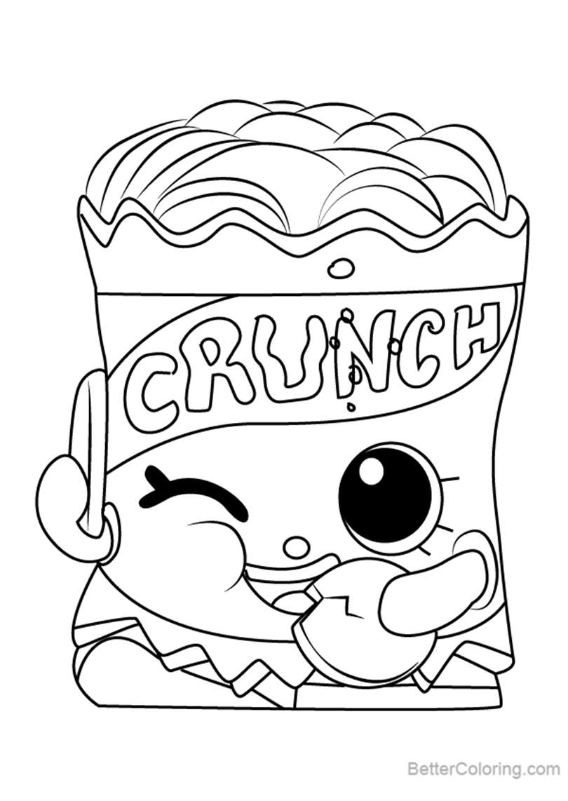 Free Crispy Chip from Shopkins Coloring Pages printable