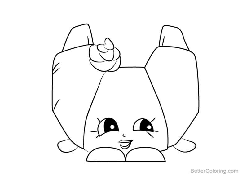 Free Croissant Or from Shopkins Coloring Pages printable