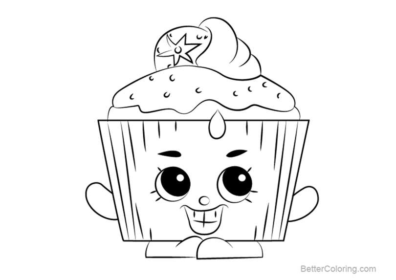 Free Cupcake Chic from Shopkins Coloring Pages printable
