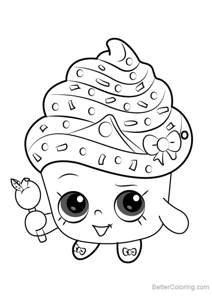 Free Cupcake Queen from Shopkins Coloring Pages printable