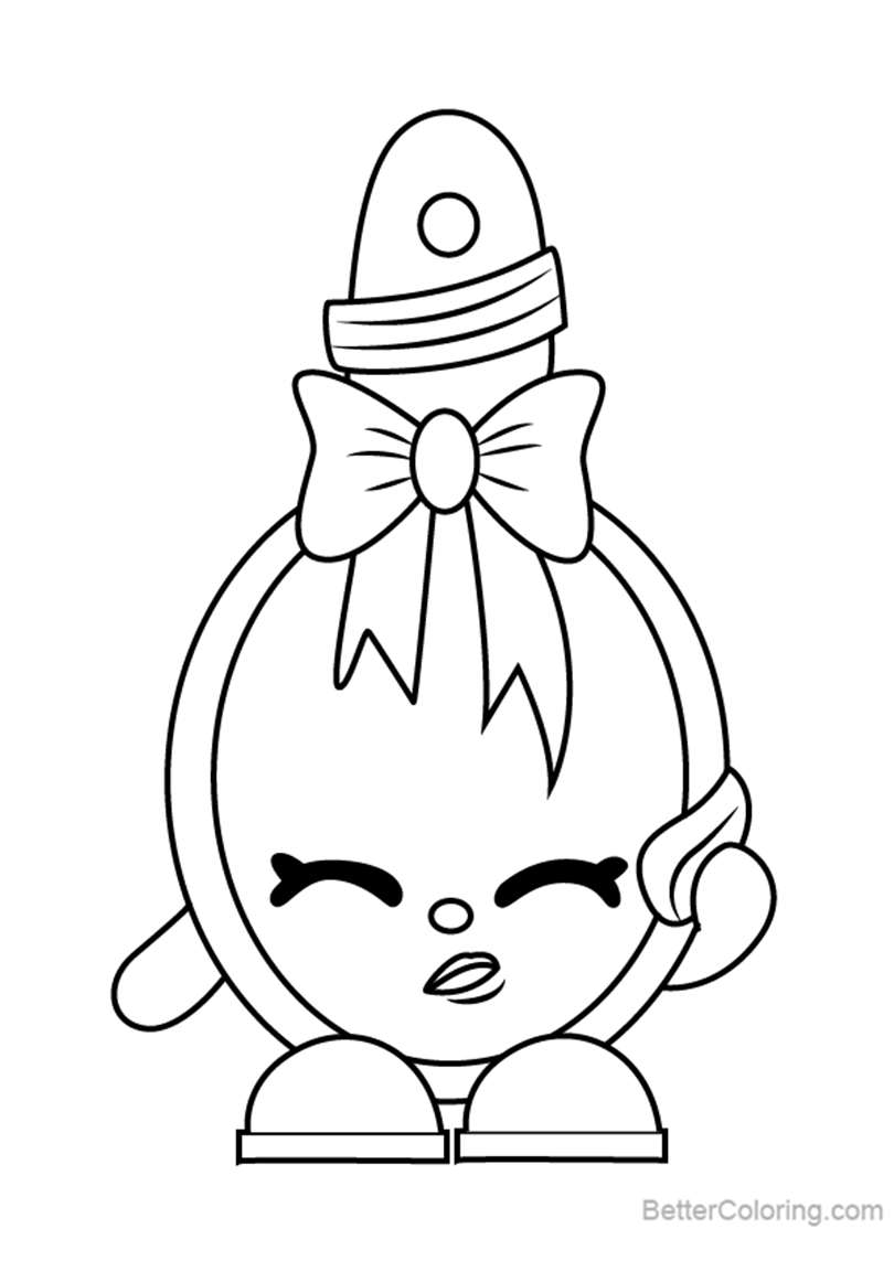 Free Curly from Shopkins Coloring Pages printable