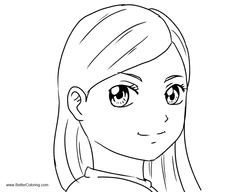 Free Cute Girly Coloring Pages printable