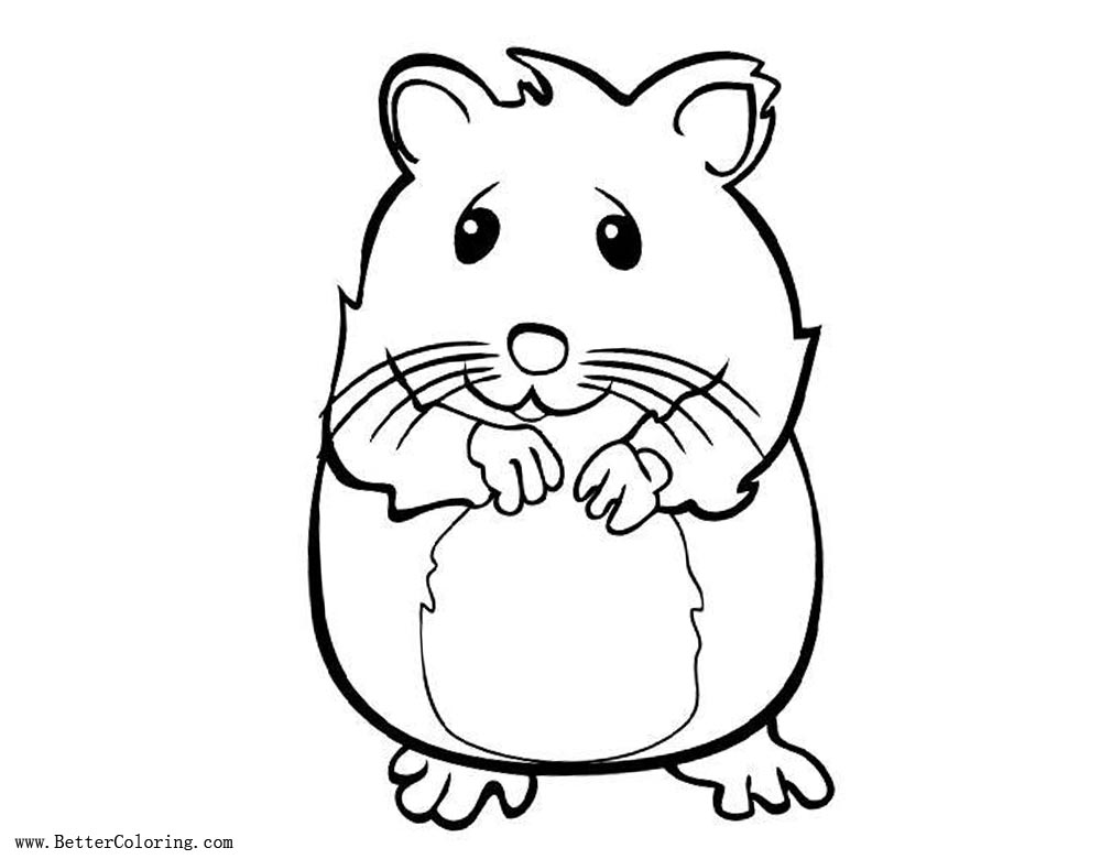 Cute Hamster Coloring Pages - Free Printable Coloring Pages