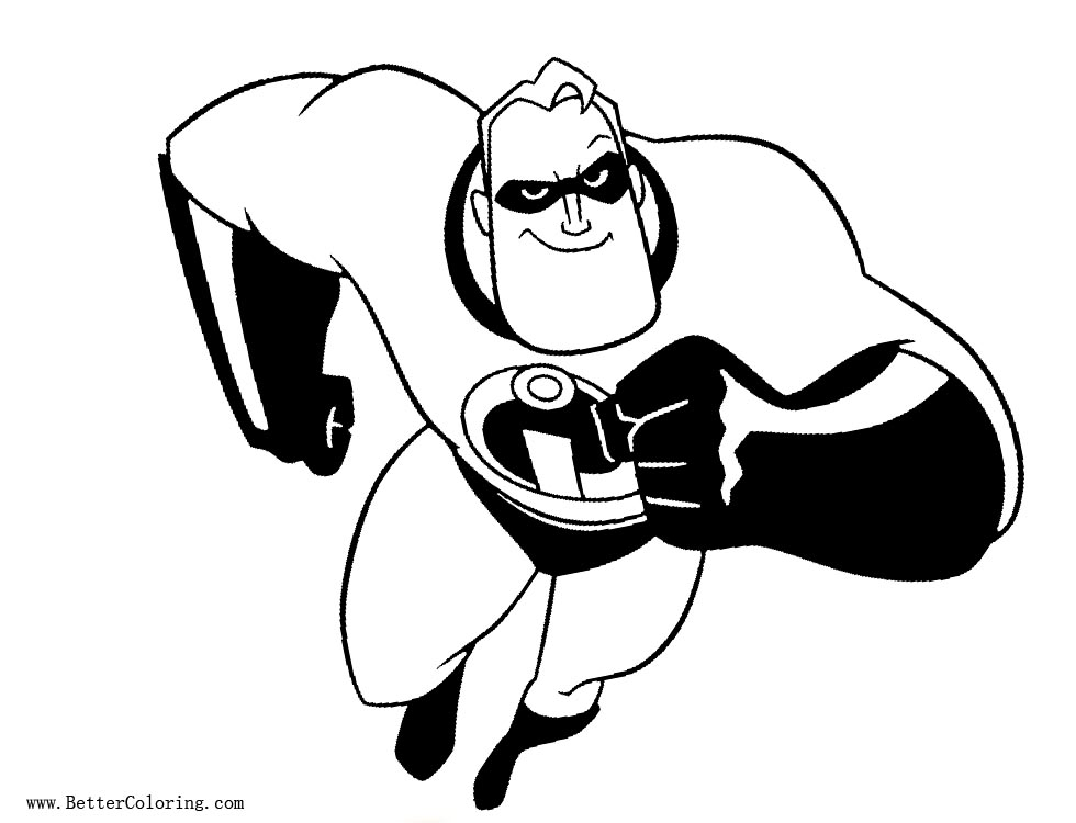 Dad from Incredibles 2 Coloring Pages Free Printable