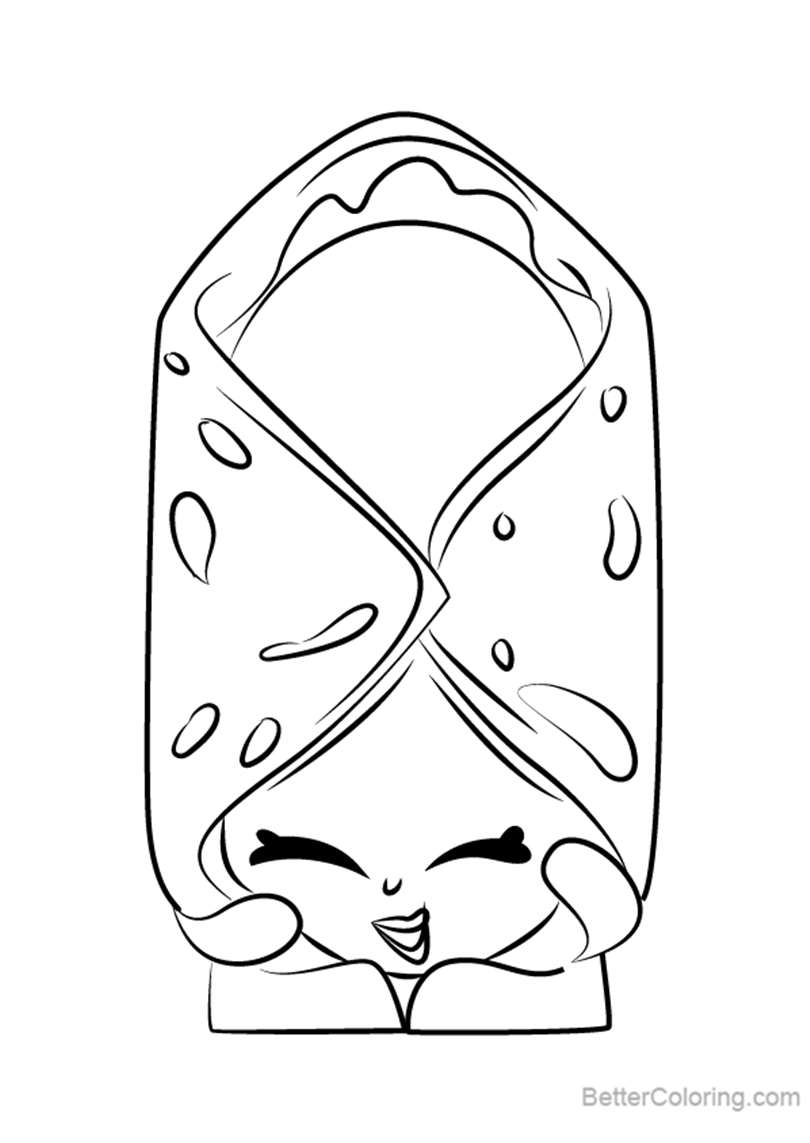 Free Danni Danish from Shopkins Coloring Pages printable