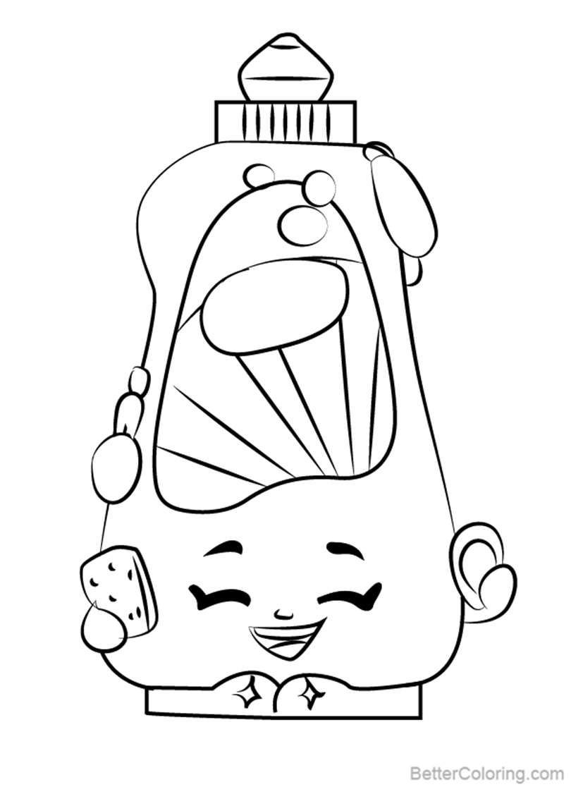 Free Dishy Liquid from Shopkins Coloring Pages printable