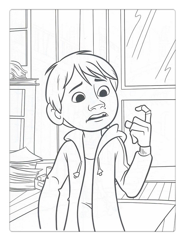 Free Disney Coco Coloring Pages Finger printable
