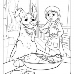 Disney Coco Coloring Pages Miguel Was Scared By Skeleton Free