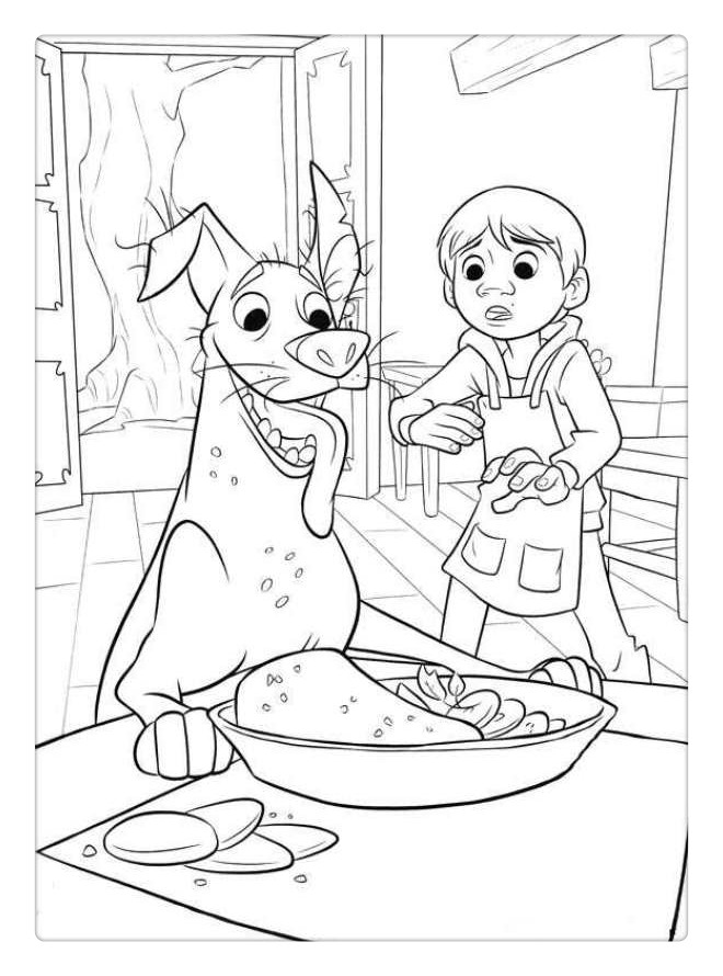 Free Disney Coco Coloring Pages Miguel and Dante printable