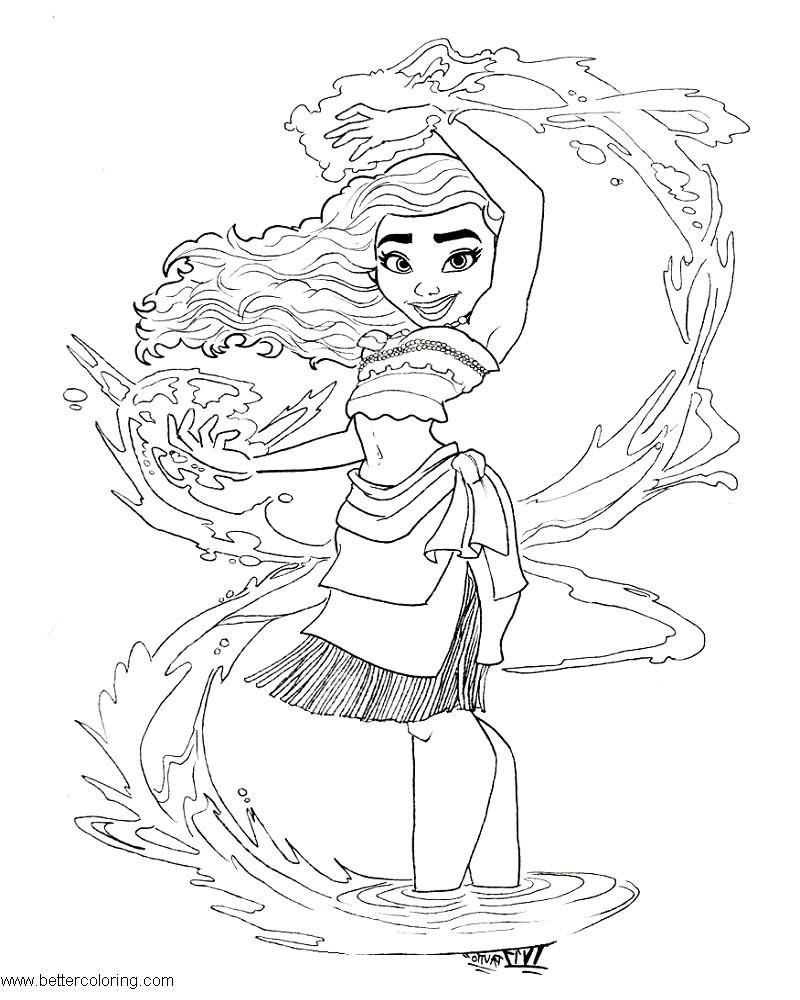 Disney Moana Coloring Pages by