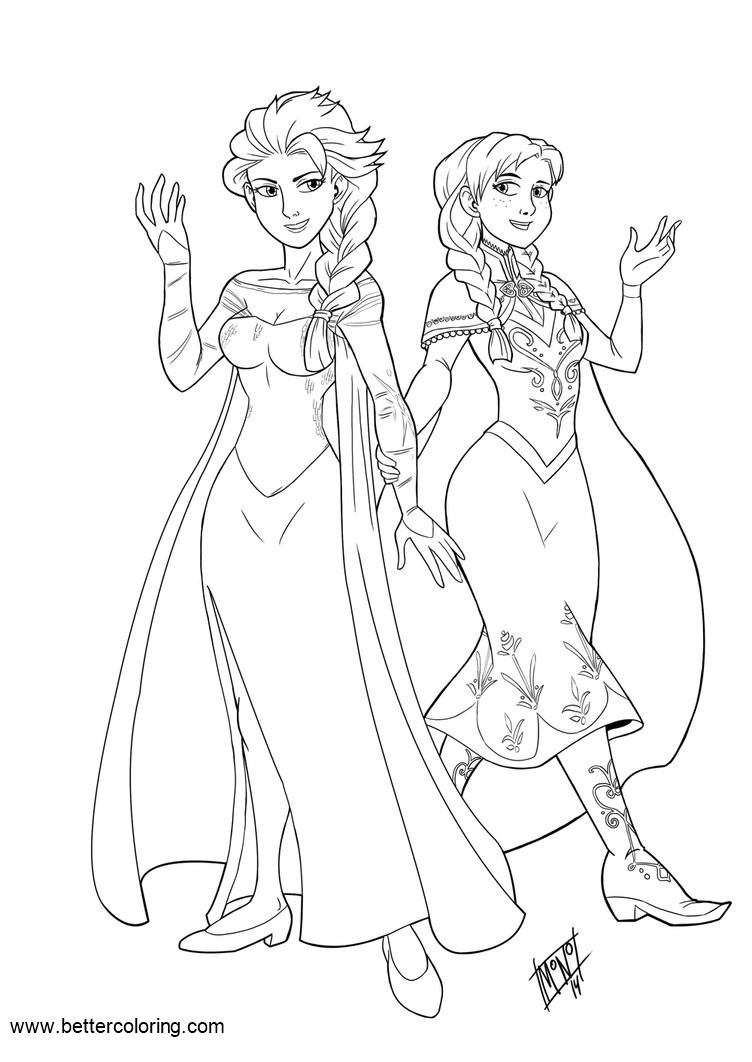 Free Disney Princess Elsa Coloring Pages by mono-phos printable