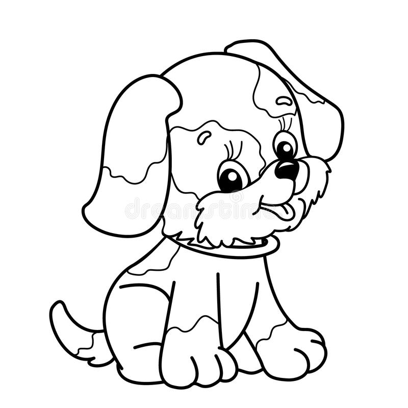 Dog Coloring Pages with Bone - Free Printable Coloring Pages