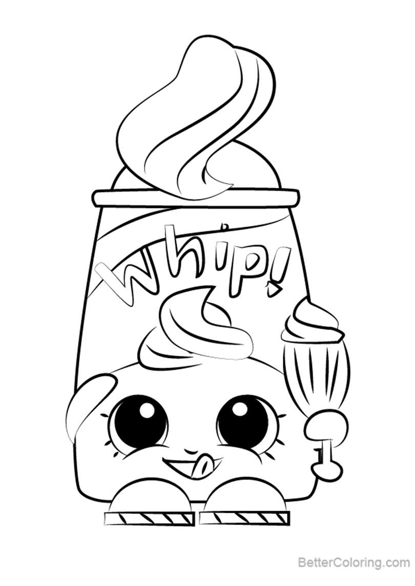 Free Dollops from Shopkins Coloring Pages printable