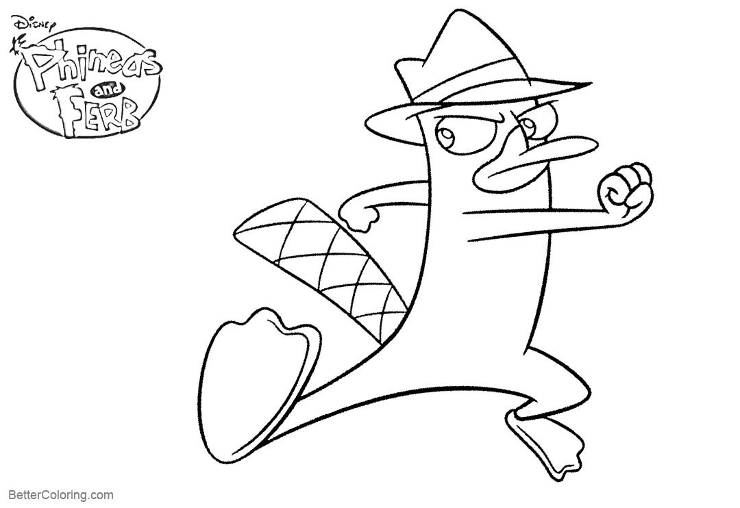 Duckbill From Phineas And Ferb Coloring Pages Free Printable