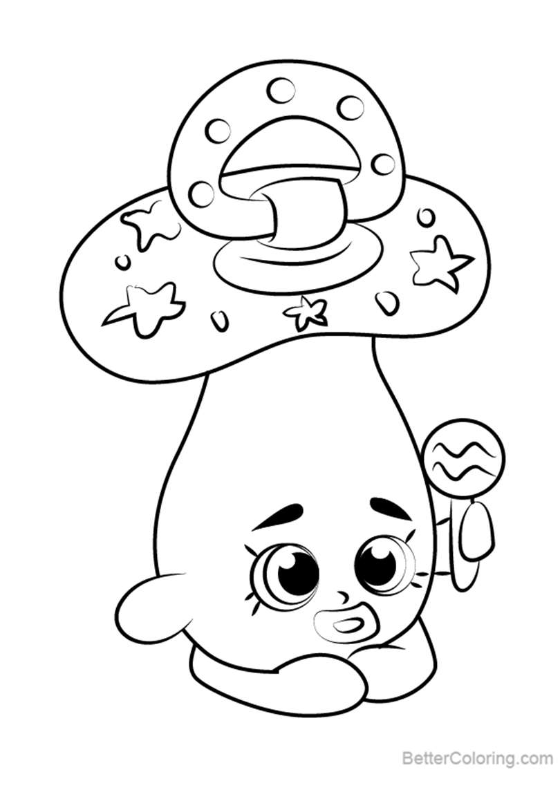Free Dum Mee Mee from Shopkins Coloring Pages printable