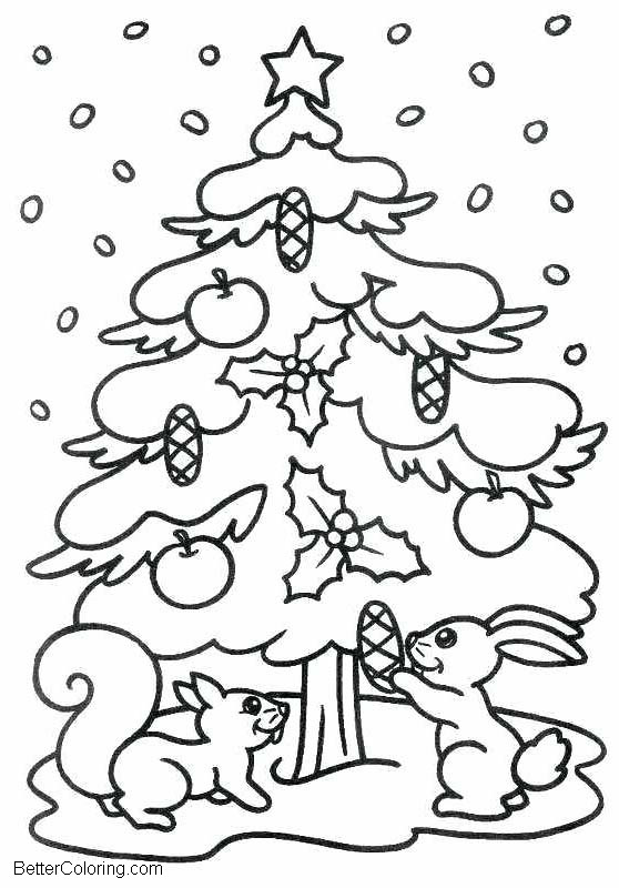 Free Evergreen Tree In Winter Coloring Pages Printable For Kids And Adults