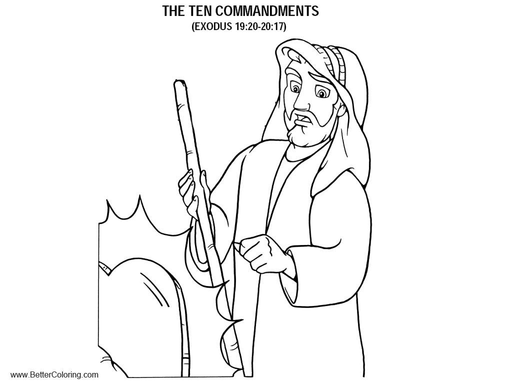 exodus the ten commandments coloring pages