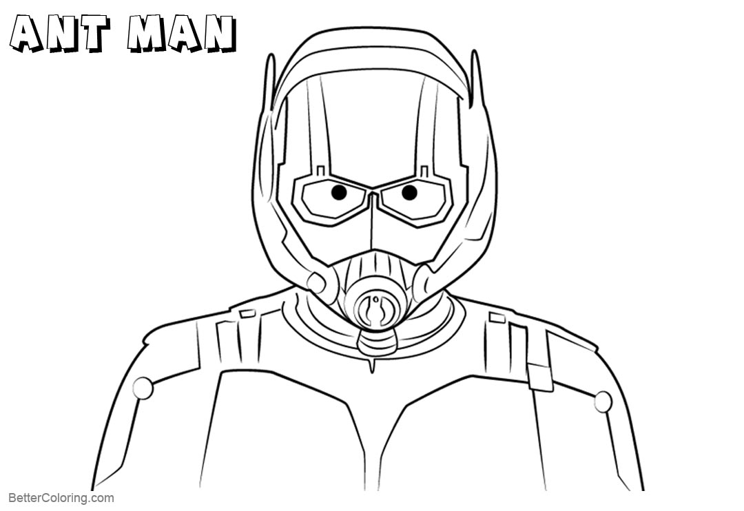Free Face of Ant Man Coloring Pages printable