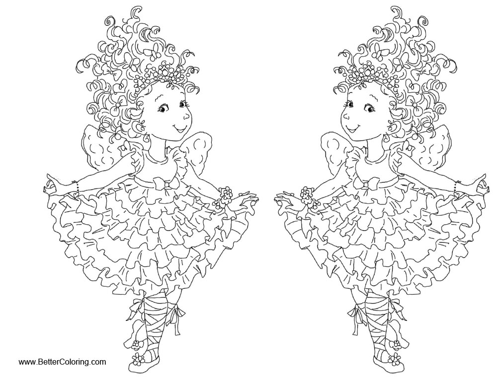 Free Fancy Nancy Coloring Pages Curtseying printable