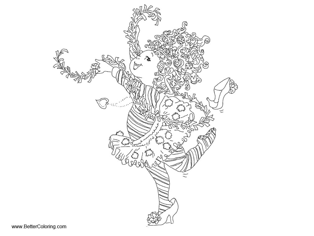 Fancy Nancy Coloring Pages Dancing Free Printable