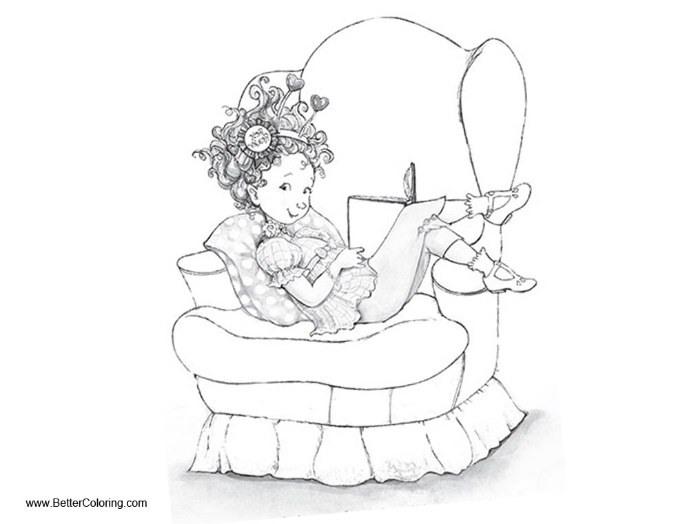 Fancy Nancy Coloring Pages Reading