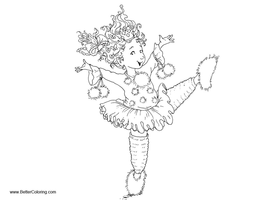 Fancy Nancy Coloring Pages Sketch Black And White Free