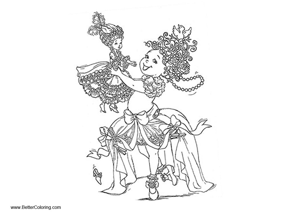 Fancy Nancy Coloring Pages with Doll Free Printable