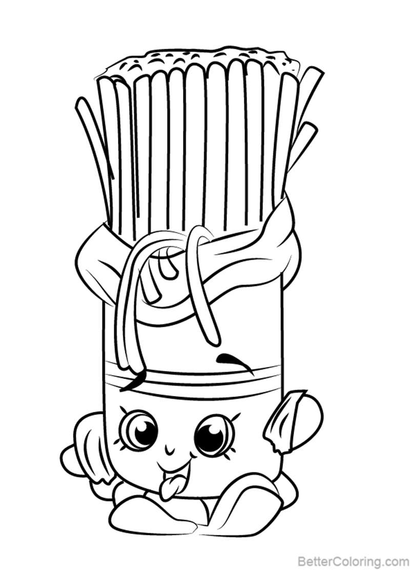 Free Fasta Pasta from Shopkins Coloring Pages printable