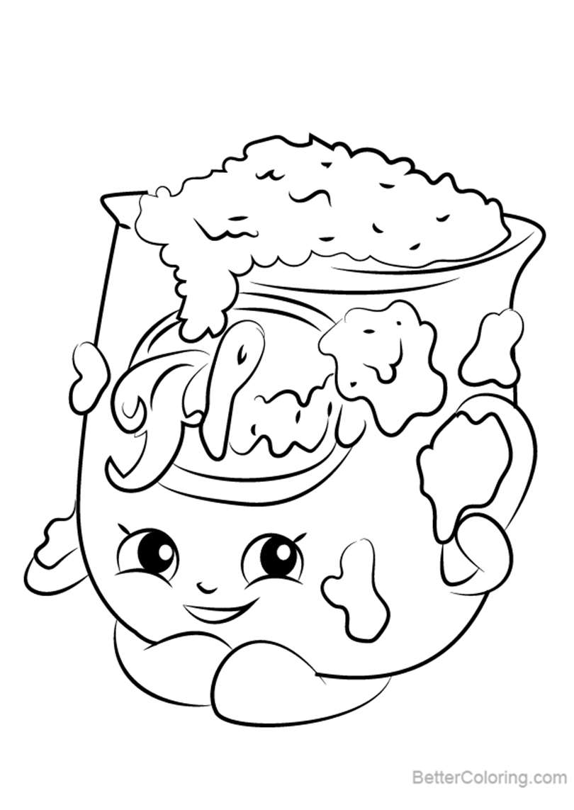Free Fi Fi Flour from Shopkins Coloring Pages printable