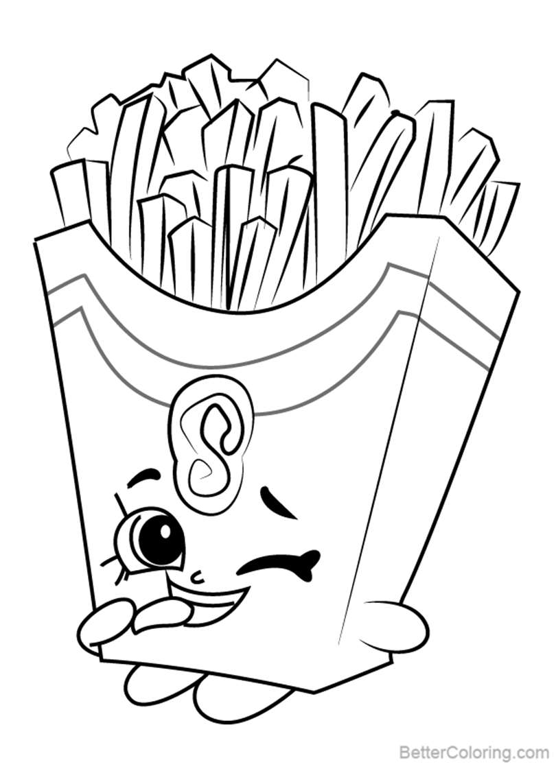 Free Fiona Fries from Shopkins Coloring Pages printable