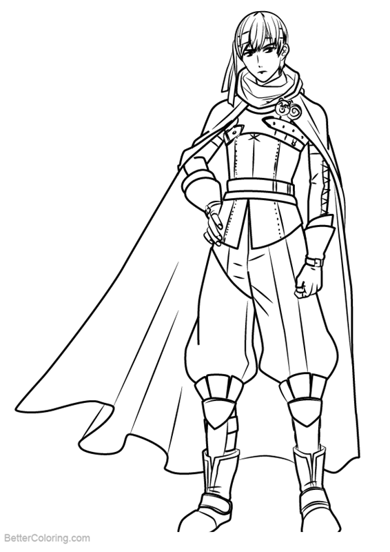 Free Fire Emblem Coloring Pages Gaius printable