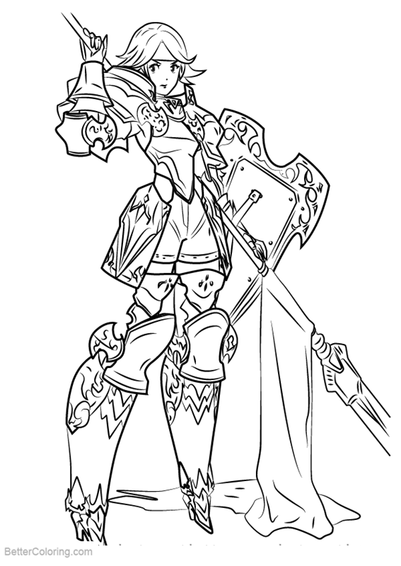 Fire Emblem Coloring Pages Gwendolyn - Free Printable ...