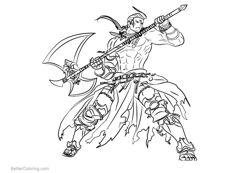 Free Fire Emblem Coloring Pages Hawkeye printable