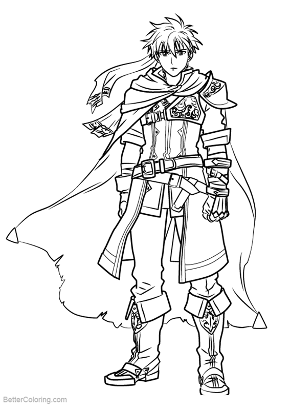 Free Fire Emblem Coloring Pages Ike printable