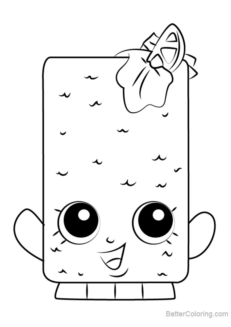 Free Fishtix from Shopkins Coloring Pages printable